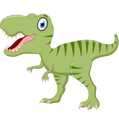 cute tyrannosaurus cartoon vector image vector image