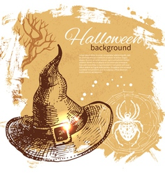 Halloween background Hand drawn vector image vector image