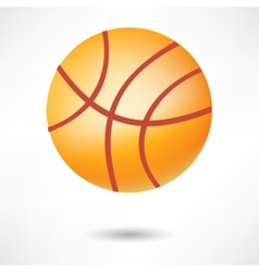 Realistic basketball ball isolated on white vector image vector image