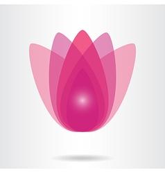 Lotus flower icon vector image