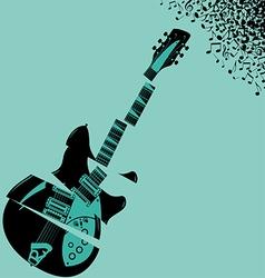 Shredded Guitar Music background vector image vector image