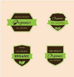 Vintage badges vector image