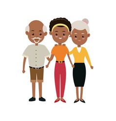 afro american family mother and grandparents vector image