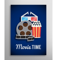 Cinema flyer movie trailer advertisement vector image