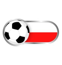 poland soccer icon vector image vector image
