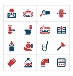 Set color icons of sewerage vector image vector image