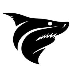Shark head sign vector image vector image