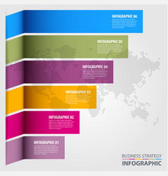 business infographics design template vector image vector image