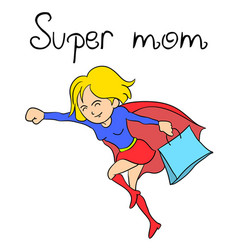 character super mother collection vector image