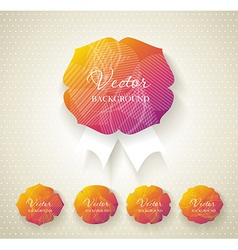 Set of paper labels with abstract pattern vector image vector image