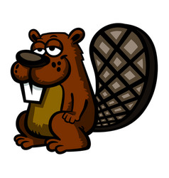 A cartoon beaver vector
