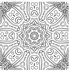 abstract hand-drawn mandala-01 vector image