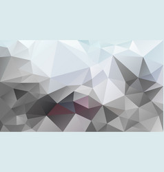 abstract irregular polygonal background gray vector image
