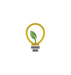 abstract natural lamp logo design template vector image