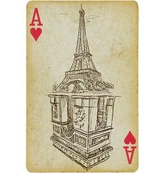 Aces of Paris vector image