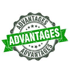 Advantages stamp sign seal vector