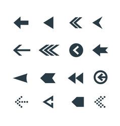 arrow icon set web arrow pictogram design vector image