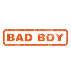 Bad Boy Rubber Stamp vector