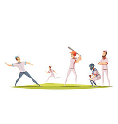 baseball players design concept vector image vector image