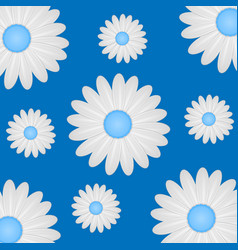 beautiful white daisies on a bright background vector image