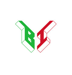 Bi - international 2-letter code or national vector