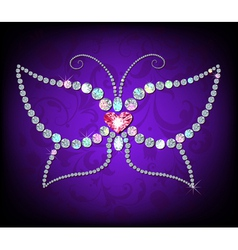 Brilliant butterfly vector image