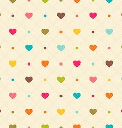 Checkered color seamless textured polka dots vector