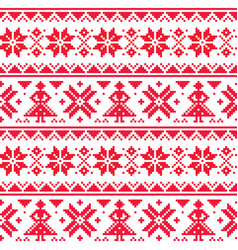 christmas or winter seamless pattern vector image