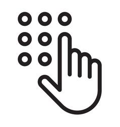 code lock icon vector image