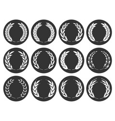 collection different grunge stamp silhouette ci vector image