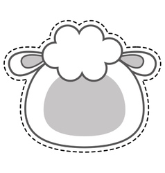 Cute sheep kawaii character vector