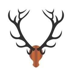 Deer head icon vector
