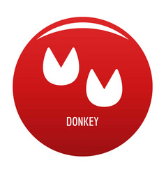 Donkey step icon red vector