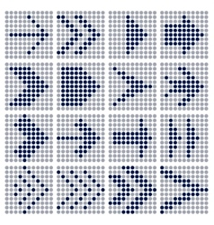 Dots mosaic arrows vector