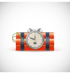 Dynamite with clock vector image