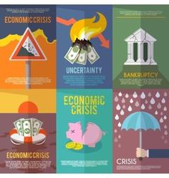 Economic Crisis Poster vector