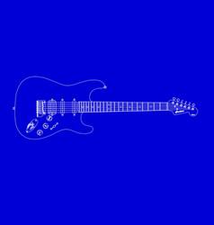Electric guitar blueprint vector