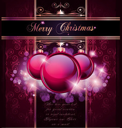 elegant merry christmas vector image