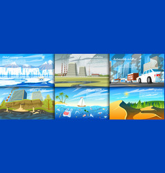 environmental pollution set of radioactive vector image