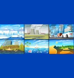 Environmental pollution set radioactive vector