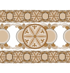 Ethnic abstract ornament pattern vector image