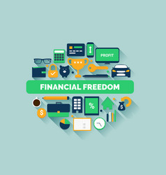 Financial freedom vector