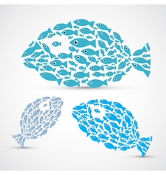 Fish Shaped Abstract Fish Set vector image