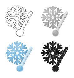 frost icon in cartoon style isolated on white vector image