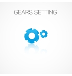 Gears setting vector