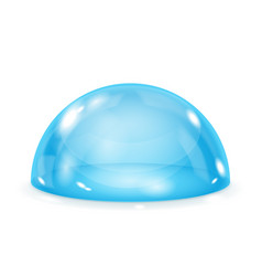 glass dome shiny blue transparent semi sphere vector image
