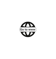 go to www icon vector image