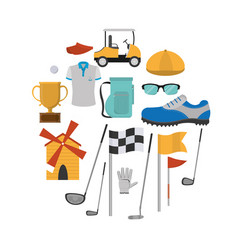 golf sport equipment vector image