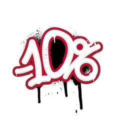 Graffiti lettering discount -10 percent vector