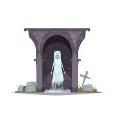 Graveyard evil character vector
